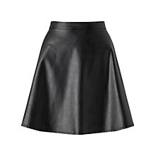 Buy Miss Selfridge Faux Leather Skirt, Black Online at johnlewis.com