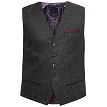 Buy Ted Baker Twill Austin Waistcoat, Charcoal Online at johnlewis.com