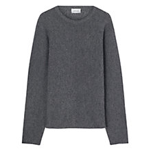 Buy Jigsaw Horizontal Rib Crew Neck Jumper, Pepper Online at johnlewis.com