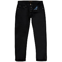 Buy Ted Baker Sam Straight Jeans, Black Online at johnlewis.com