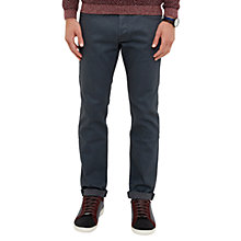 Buy Ted Baker Social Straight Jeans, Grey Online at johnlewis.com