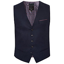 Buy Ted Baker Twill Austin Waistcoat, Navy Online at johnlewis.com