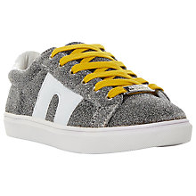 Buy Steve Madden SM1 Low Top Trainers, Silver Online at johnlewis.com