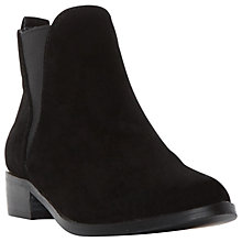 Buy Steve Madden Nickell Block Heeled Ankle Boots, Black Online at johnlewis.com