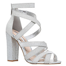 Buy Miss KG Flick Occasion Multi Strap Sandals, Silver Online at johnlewis.com