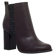Buy Miss KG Scorpion Block Heeled Ankle Boots, Wine Online at johnlewis.com