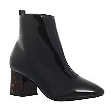 Buy Miss KG Stone Block Heeled Ankle Boots, Black Online at johnlewis.com