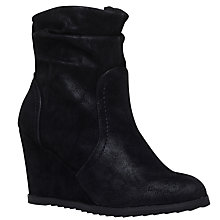 Buy Miss KG Sion Wedge Heeled Ankle Boots, Black Online at johnlewis.com