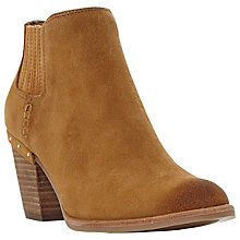 Buy Steve Madden Tinker Block Heeled Ankle Boots, Tan Online at johnlewis.com