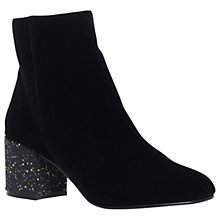 Buy Miss KG Serbia Block Heeled Ankle Boots, Black Online at johnlewis.com