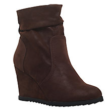 Buy Miss KG Sion Wedge Heeled Ankle Boots, Brown Online at johnlewis.com