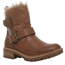 Buy Miss KG Snug Ankle Boots, Mid Brown Online at johnlewis.com