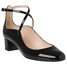 Buy L.K. Bennett Maddison Cross Strap Court Shoes, Black Online at johnlewis.com