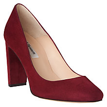 Buy L.K. Bennett Marcella Closed Court Shoes, Red Truffle Suede Online at johnlewis.com