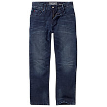 Buy Fat Face Boys' Dark Straight Jeans, Denim Online at johnlewis.com