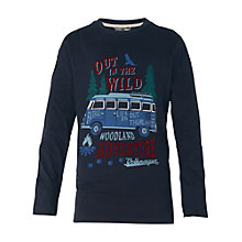 Buy Fat Face Boys' Long Sleeve Wild Van T-Shirt, Navy Online at johnlewis.com