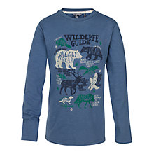 Buy Fat Face Boys' Long Sleeve Wildlife Guide T-Shirt, Blue Online at johnlewis.com