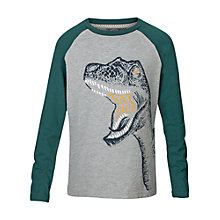 Buy Fat Face Boys' Dinosaur Long Sleeve T-Shirt, Grey Online at johnlewis.com