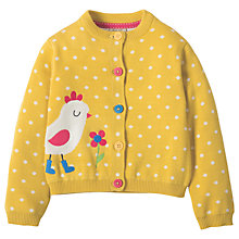 Buy Frugi Organic Girls' Betsy Chicken Cardigan, Yellow Online at johnlewis.com