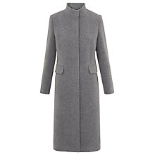 Buy Whistles Funnel Neck Coat, Grey Online at johnlewis.com