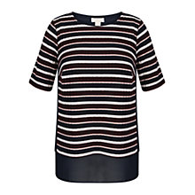 Buy Celuu Kiera Chiffon Trim Top, Multi Online at johnlewis.com