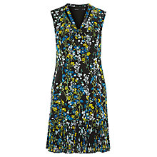 Buy Karen Millen Tie-Neck Floral Dress, Black/White Online at johnlewis.com