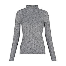 Buy Whistles Ribbed Rib High Neck Top Online at johnlewis.com