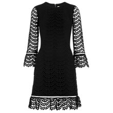 Buy Whistles Black Valentina Dress, Black Online at johnlewis.com