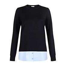 Buy Hobbs Marie Jumper, Navy Chambray Online at johnlewis.com