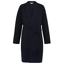 Buy Whistles Nicks Wool Wrap Coat, Navy Online at johnlewis.com
