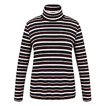 Buy Celuu Maura Stripe Polo Neck Jumper, Multi Online at johnlewis.com