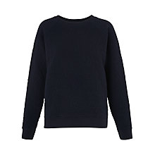 Buy Whistles Diamond Quilted Jumper, Navy Online at johnlewis.com