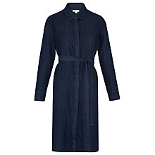 Buy Whistles Miranda Belted Denim Dress, Blue Online at johnlewis.com