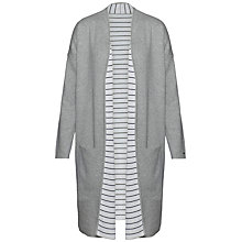 Buy Tommy Hilfiger Balina Reversible Stripe Cardigan, Light Grey Heather Online at johnlewis.com