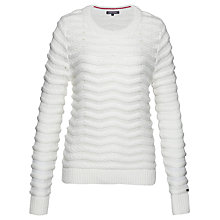 Buy Tommy Hilfiger Bedelia Rope Jumper, Snow White Online at johnlewis.com