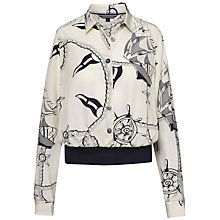 Buy Tommy Hilfiger Kamala Nautical Print Bomber Blouse, Chie Print Eggnog Online at johnlewis.com