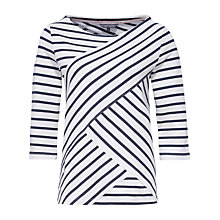 Buy Tommy Hilfiger Olinda Asymmetric Stripe, Snow White/Navy Blazer Online at johnlewis.com