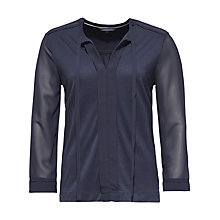 Buy Tommy Hilfiger Ondrea Tie Neck Top, Navy Blazer Online at johnlewis.com