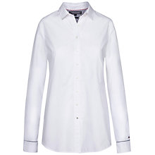 Buy Tommy Hilfiger Kon Long Cotton Shirt, Classic White Online at johnlewis.com