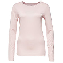 Buy Tommy Hilfiger Jada Long Sleeve Jersey Top, Coral Blush Online at johnlewis.com