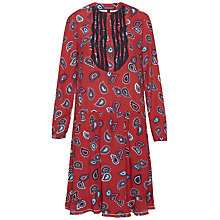 Buy Tommy Hilfiger Ruth Paisley Dress, Caris Paisley Mars Red Online at johnlewis.com