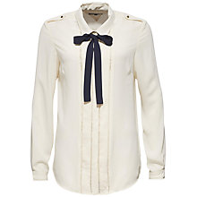 Buy Tommy Hilfiger Rosetta Chiffon Bow Blouse, Eggnog Online at johnlewis.com