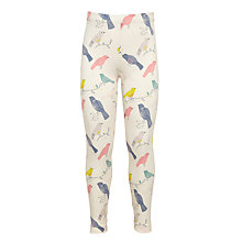 Buy John Lewis Girls' Bird Print Leggings, Cream/Multi Online at johnlewis.com