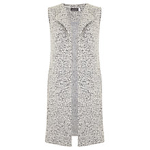 Buy Mint Velvet Textured Waistcoat, Winter White Online at johnlewis.com