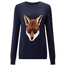 Buy Collection WEEKEND by John Lewis Olivia Fox Jumper, Navy Online at johnlewis.com