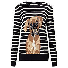 Buy Collection WEEKEND by John Lewis Buster The Boxer Jumper,  Black/Ivory Online at johnlewis.com