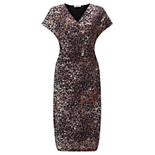 Buy Jigsaw Shadow Floral Fit And Flare Dress, Mink Online at johnlewis.com
