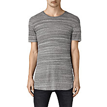 Buy AllSaints Tobiah Crew Neck T-Shirt, Grey Mouline Online at johnlewis.com