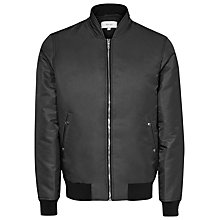 Buy Reiss Lawrence Bomber Jacket, Off Black Online at johnlewis.com