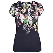 Buy Ted Baker Meglis Botanical Trail Fitted T-Shirt, Navy Online at johnlewis.com
